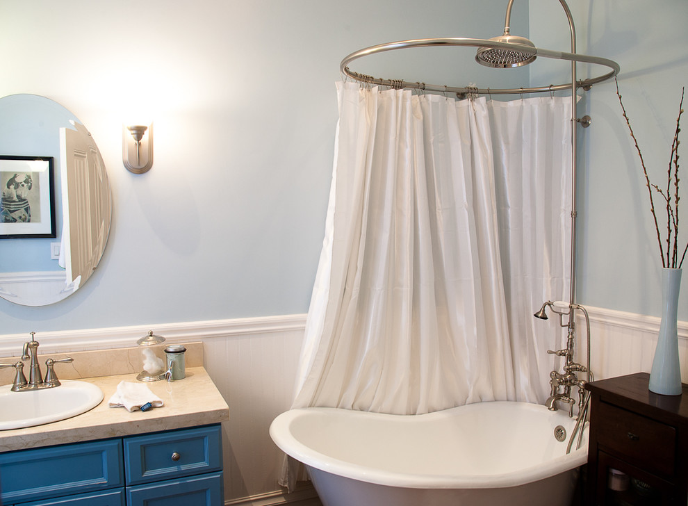 Easy Way To Make Shower Curtain Rod For Clawfoot Tub Flickr