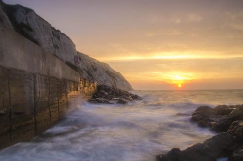 seascape english sunrise kent warren channel folkestone