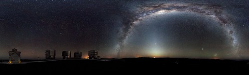 ESO Very Large Telescope Panorama with the Milky Way | by sjrankin