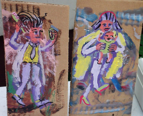 cardboard couple with child | by stephenbrunelli