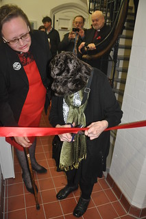 Cutting the ribbon at the opening of the new parish centre of St James the Less Pimlico 068   by The National Churches Trust