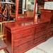 Mahogany long 6 drawer