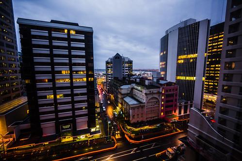 newzealand auckland sunrise city downtown