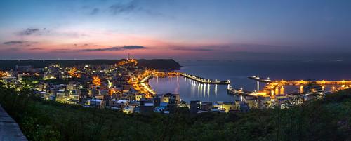 taiwan 台灣海峽 澎湖 菊島 外峖漁港 sunrise 寬景 panorama widescreen