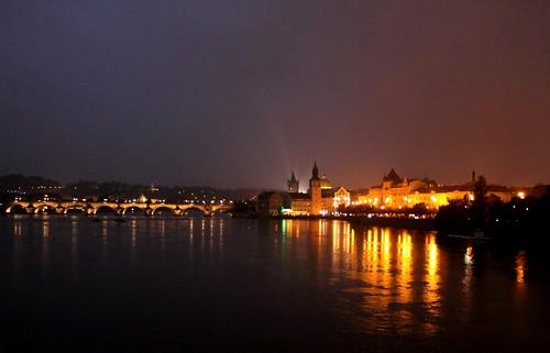 travel night town hall republic czech prague charles bidge