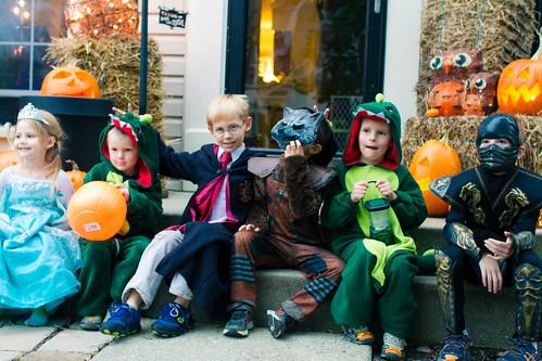 The Gang on Halloween   by Michael Bentley