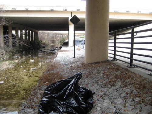 Clean Trail Under The Bridge   by dickdavid