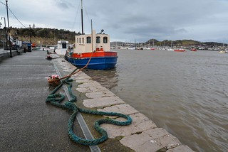 Spring tide at Conwy Quay