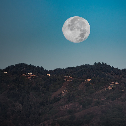 santacruz moon mountains sunrise siliconvalley