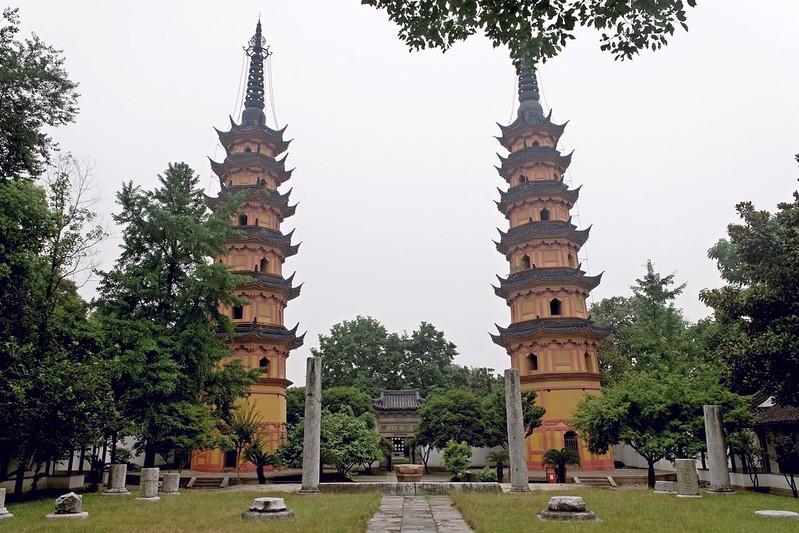 苏州双塔 (Templo Luohanyuan )