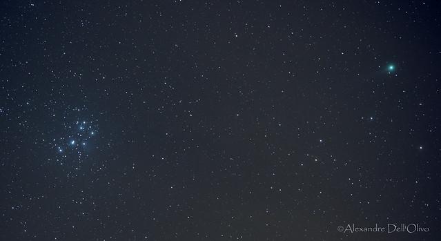 C/2014 Q2 Lovejoy & The Pleiads