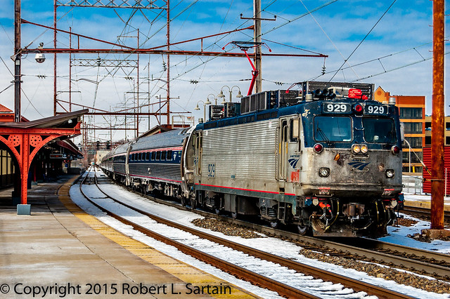 Amtrak train 174 WIL AEM7 929 2015-02-26