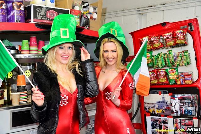 St Patricks Day Girls in Ireland with Mr Hobbs Coffee