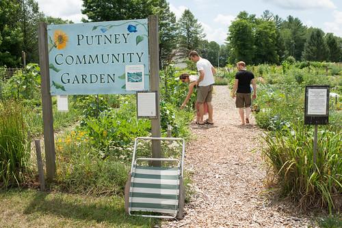 Radha, Erik & Tyler at Putney Community Garden   by goingslowly