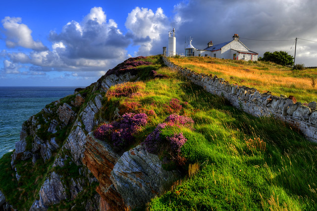 DUNREE LIGHTHOUSE, DUNREE HEAD, INISHOWEN, CO.DONEGAL, IRELAND.