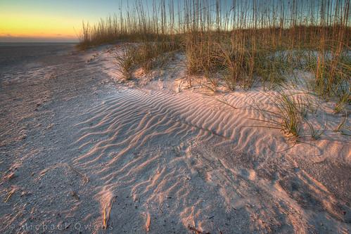 beach morninglight sand warm waves dunes ripples fernandina lowsun seaoats fortclinchstatepark