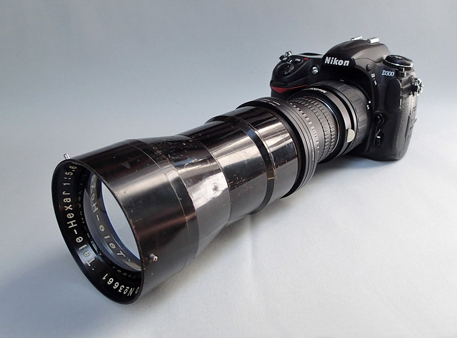 Nikon D300 with Rokuoh Sha TeleHexar 40cm  (ex SK-100) sn # 3661