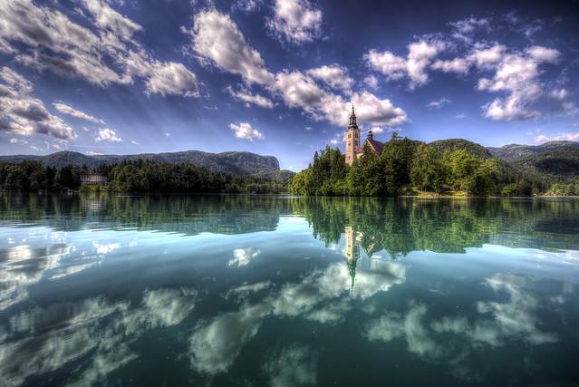 Bled Island from boat - Slovenija