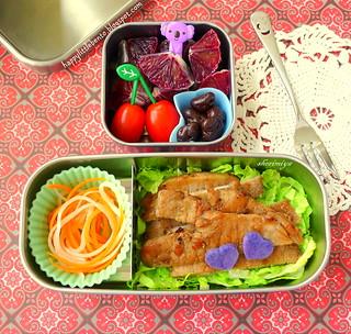 Pork Chop and Shredded Veggies Bento   by sherimiya ♥