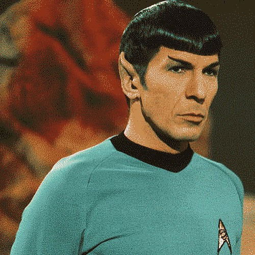 "Leonard Nimoy. March 26, 1931 - February 27, 2015 (aged 83)  Mr Spock, half-human half-Vulcan with the pointy ears, was an inspiration. Not least for his intelligence, logical thinking and calm under pressure. He had a ""teddy bear"", I-Chaya, a domesticate 