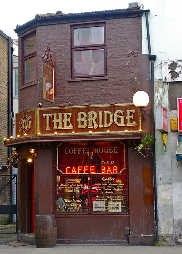 Shoreditch Bars: The Bridge Caffe Bar, Shoreditch, London, February 2015