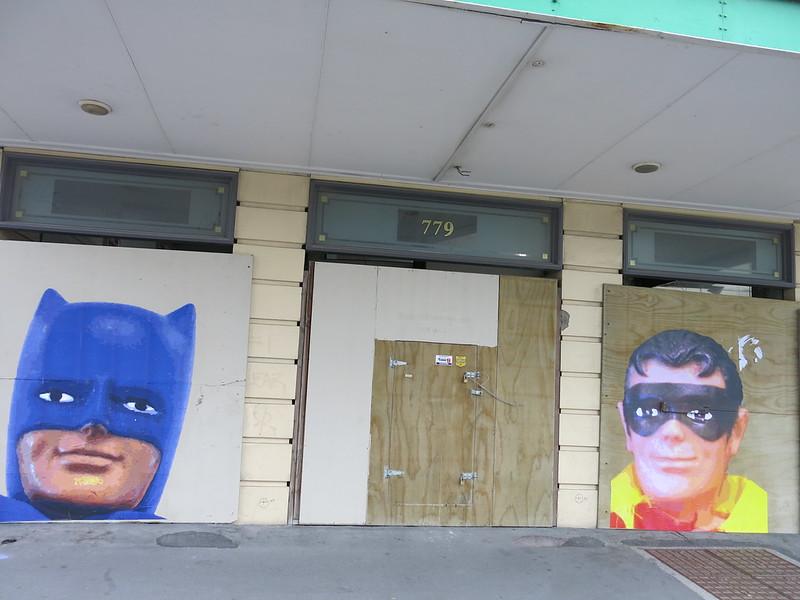 Street art on Isaac House, Colombo Street
