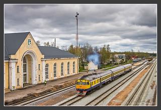 Im Grenzbahnhof Valga (Lettland) bzw. Valka(Estland)...