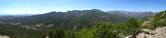Panoramique 180° depuis Punta di Cinaghja