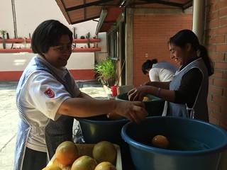 México - Lavando la fruta
