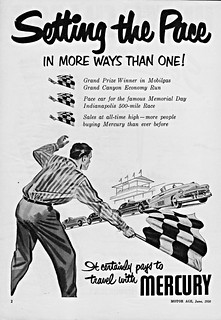 1950 Mercury Indy 500 Pace Car Ad
