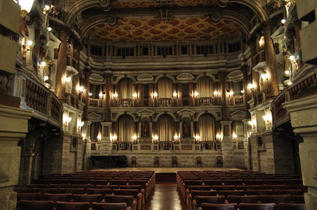 Scène, Théâtre Scientifique ou Bibiena (XVIIIe), via Accademia, Mantoue, province de Mantoue, Lombardie, Italie.