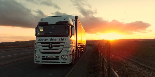 sunset truck mercedes mp3 lorry hgv actros heaver 2546 nl60hbl