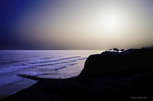 Serene sunset in Lima Peru