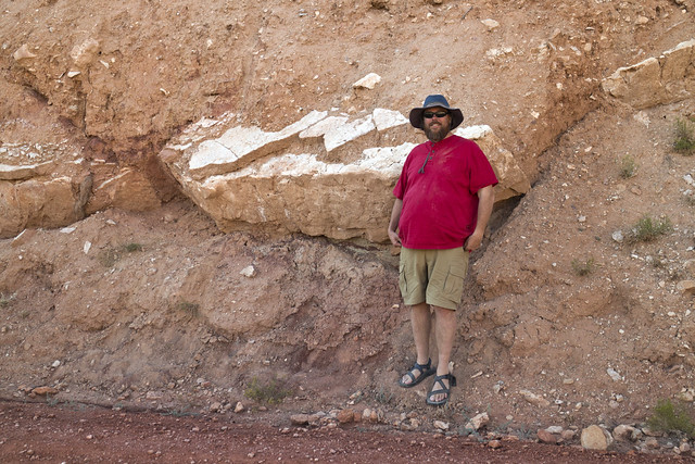 Dave Lovelace, early reptile tracks, Amsden/Tensleep Formation, Big Horn County, Wyoming 1