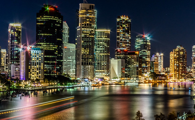 IMGP7840-River lights, City of Brisbane