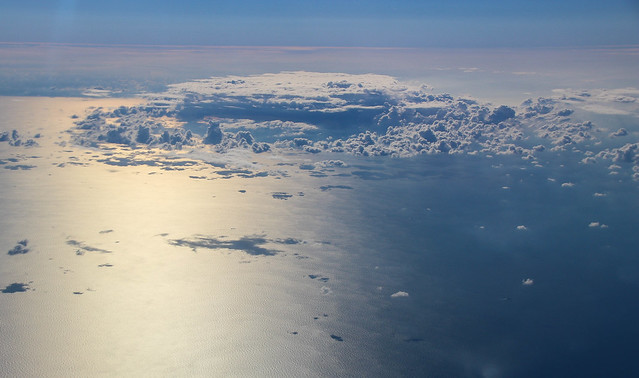 The North Sea - 35,000ft Clouds