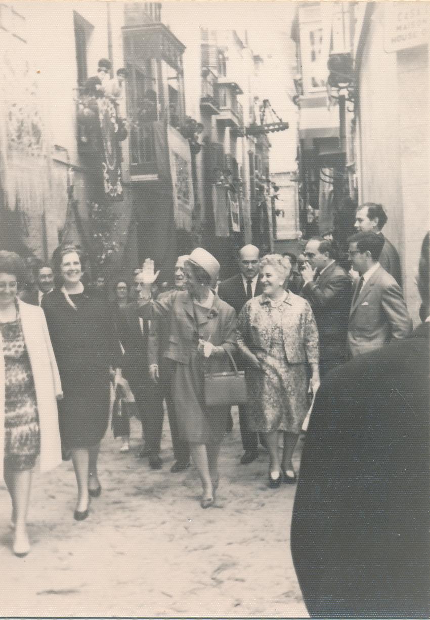 Carmen Polo en el Corpus de Toledo en 1962. Fotografía de Julián C.T.