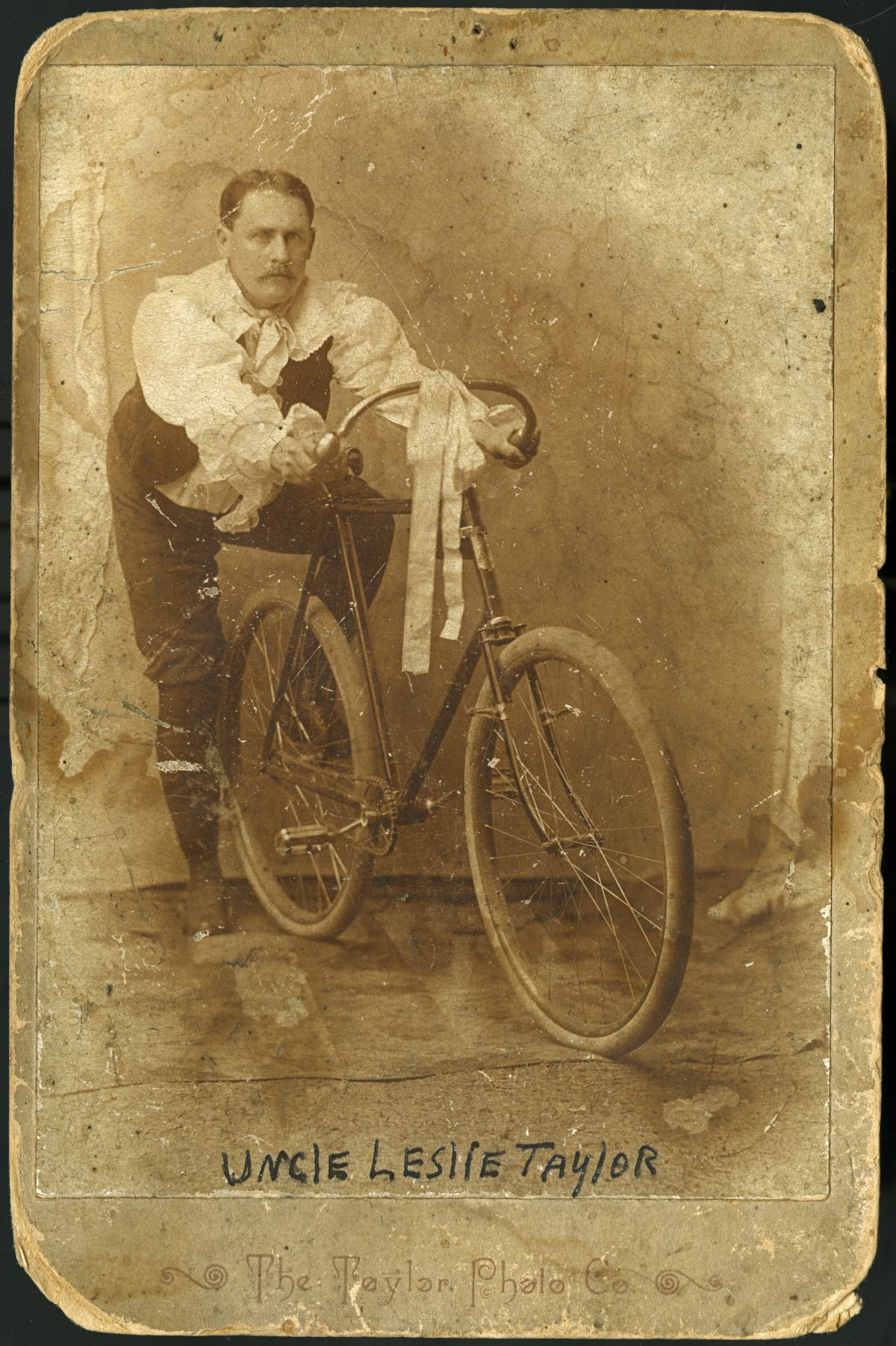 Portrait of Leslie A. Taylor with a bicycle - Florida