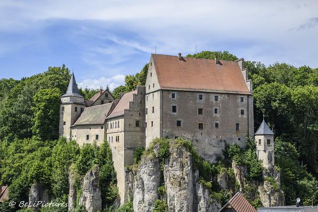Schloss Wiesentfels in der Fränkischen Schweiz
