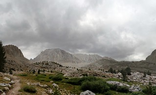 1159 Dark clouds over Mount Whitney as I climb above Timberline Lake on the John Muir Trail | by _JFR_