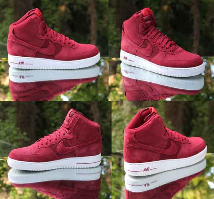 best website 8cd80 4eda8 ... Nike Air Force 1 High 07 University Red White Suede 315121-610 Size 11