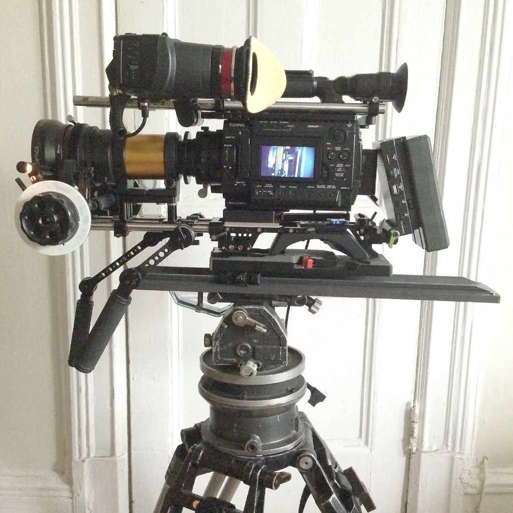 Anamorphic camera rig for tripod and shoulder mount - for sale