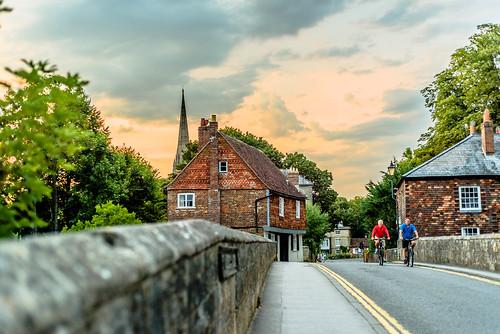salisbury wiltshire bridge sky bicycle architecture 英国 英格兰 索尔兹伯里 威尔特郡