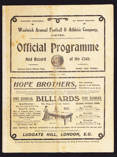 Woolwich Arsenal v Manchester United 1907-1908