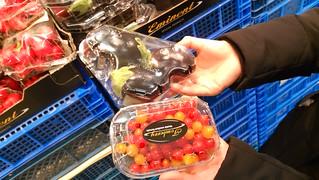 Mini cherry tomatoes and mini aubergines