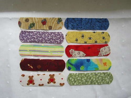 Fabric-Covered Bandages | by Pictures by Ann