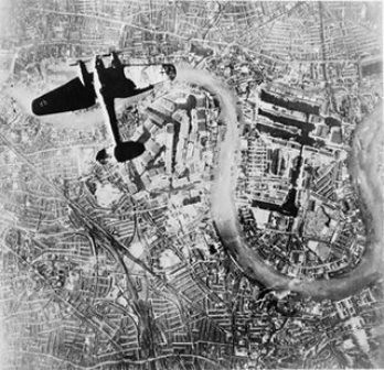 Bombardeo sobre Londres durante la Segunda Guerra Mundial