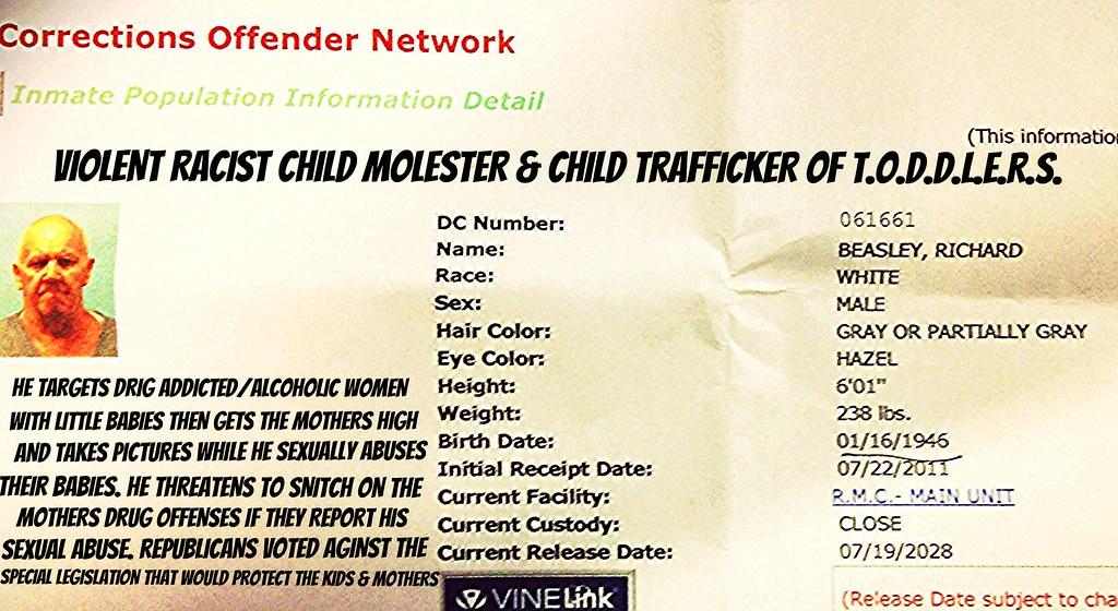 I Got Racist Child Rapist Beasley 20 Years