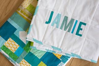 Jamie's improv quilt