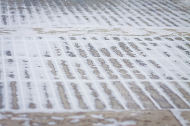 Wind Swept Snow on Bricks